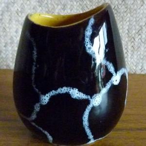 1950_s_little_black_&_white_west_german_vase