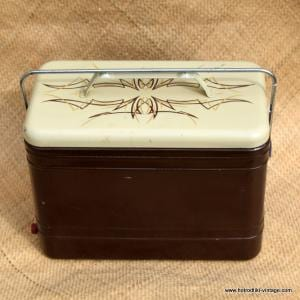 Vintage American Brown and Cream Cool Box 12