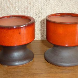vintage_jersey_pottery_orange_goblet_vase