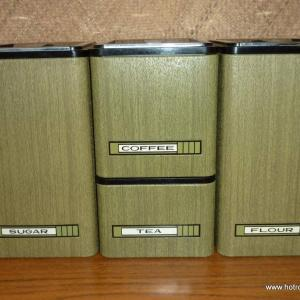1960_s_kromex_chrome_&_green_fake_wood_canister_set