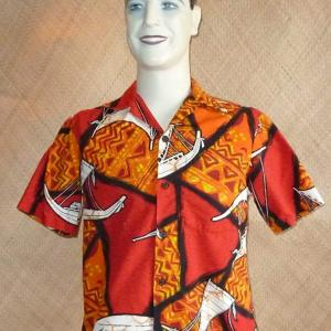 1960_s_red_hawaiian_shirt_with_outriggers