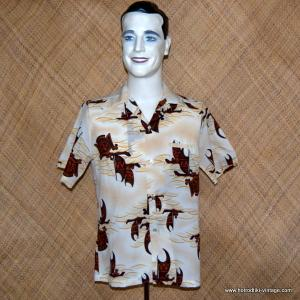 Mens 1970's Outrigger Polyester Shirt 1