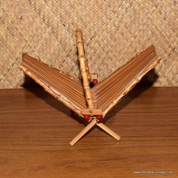 Vintage Bamboo Folding Basket 2