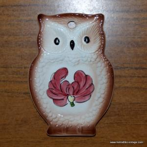 Vintage Japanese Owl Spoon Rest 1