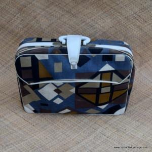 1960's Vintage Japanese Travel Suitcase Abstract 1