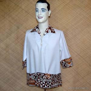 Mens 1960's Chapmans White Hawaiian Shirt 1