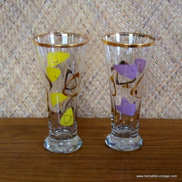 Set of 2 1950's Vintage Hi-Ball Glasses 1