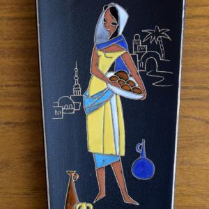 Vintage Girl Wall Plaque 1