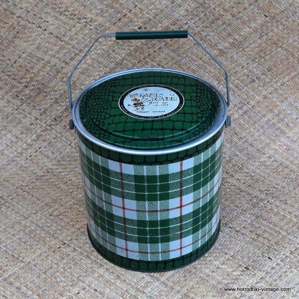 Vintage Green Tartan Toter Cooler 1