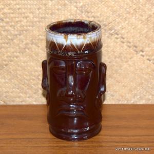 Vintage Brown Handled Tiki Mug 1