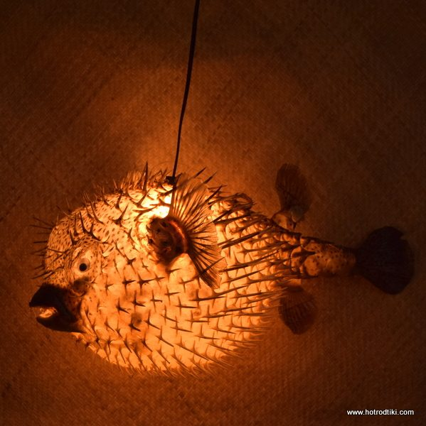 Extra Large Puffer Fish Lamp Clear 1