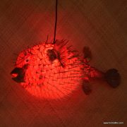 Extra Large Puffer Fish Lamp Red 2
