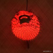 Extra Large Puffer Fish Lamp Red 4