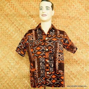 1970's Mens Montgomery Ward Hawaiian Shirt 1