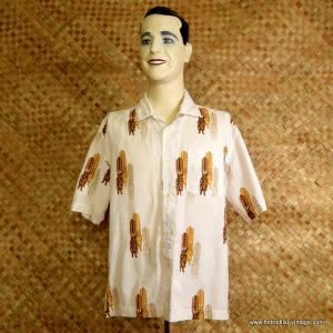 Vintage Mens Rusty Tiki Hawaiian Shirt 1