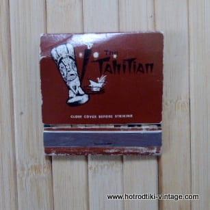Vintage The Tahitian Matchbook 1