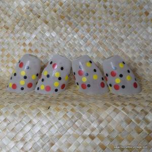 Vintage 1950's Set of Four Dotty Glass Lightshades 1