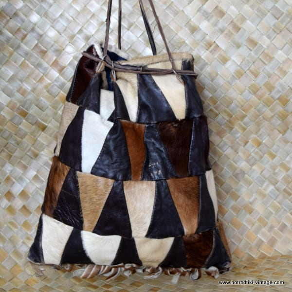 1970's Leather Patchwork Bag 3