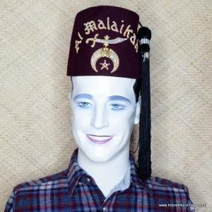 Mens Vintage Jewelled Al Malaikah Shriners Fez 1