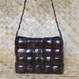 Vintage Style Coconut Bag & Purse 1