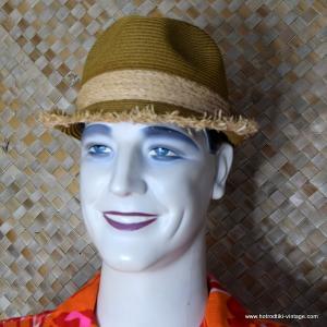 Vintage Style Raffia Trilby Hat Bob 1