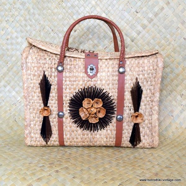 1960's Ladies Mexico Straw Bag 1