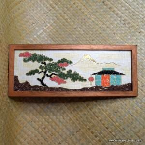 1950's Gravel Art Oriental Scene Picture 1