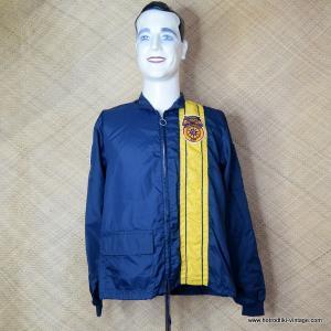 960's Mens Dark Blue Teamsters 407 Race Style Jacket 1