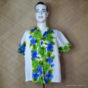 1960's Mens Vintage Cream Ui-Maikai Hawaiian Shirt 1