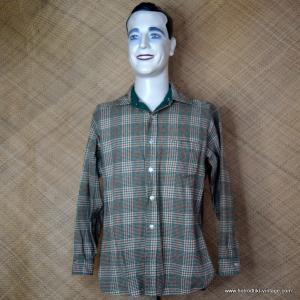 Vintage Cream & Green Pendleton Wool Shirt 1