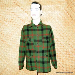 1960's Vintage Mens Pendleton Green & Red Jacket 1
