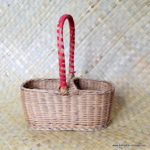 Vintage Wicker Wine Bottle Holder 1