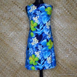 1960's Ladies Reef Hawaiian Blue Dress 1