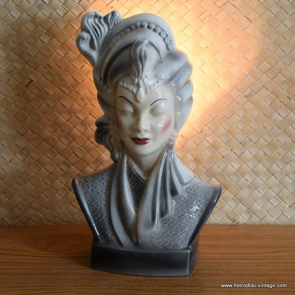 1950's Navis & Smith Asian Bust Head TV Lamp 1