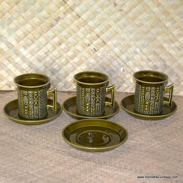 1970's Portmeirion Cypher Tea Cups and Saucers 1