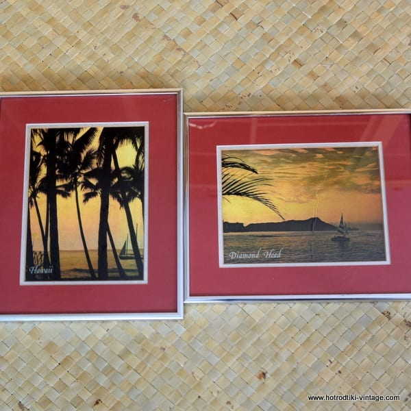 1970's Pair of Hawaiian Foil Pictures 1